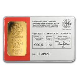 1 oz Gold Bar - Argor-Heraeus (Vintage\, In Assay)