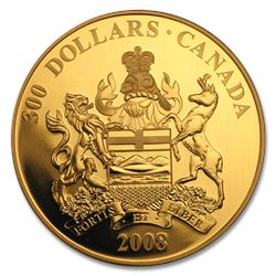 2008 Canada Proof Gold $300 Alberta Coat of Arms (Capsule Only)