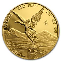 2019 Mexico 1/2 oz Proof Gold Libertad
