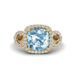 1 ctw VS/SI Diamond & Citrine Ring 18K White Gold