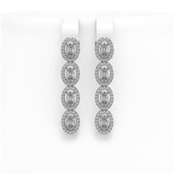 3.5 ctw Princess VS/SI Diamond Ring 18K White Gold