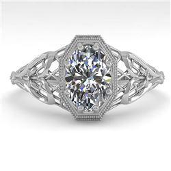 2.51 ctw VS/SI Diamond Solitaire Art Deco 3 Stone Ring 18K Yellow Gold