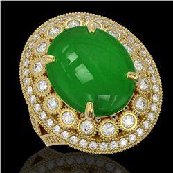 2.03 ctw SI/I Fancy Intense Yellow Diamond Ring 10K Rose Gold