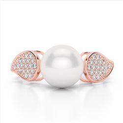 2.50 ctw Garnet And VS/SI Diamond Necklace 14K Rose Gold