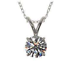 0.85 ctw VS/SI Diamond 2pc Wedding Set Halo 14K White Gold