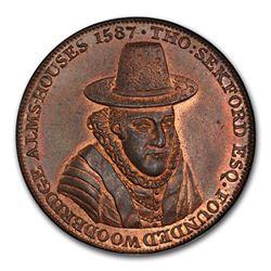 1796 Suffolk Woodbridge Penny Conder Token MS-65 PCGS (RB)