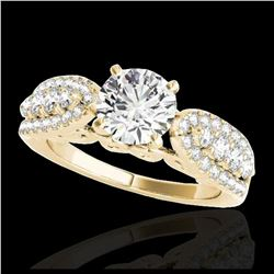1.70 ctw H-SI/I Diamond Solitaire Halo Ring 10K Rose Gold
