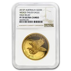 2015 Australia 2 oz Gold Proof Wedge Tailed Eagle PF-70 NGC UC