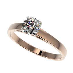 1.10 ctw VS Black & White Diamond Solitaire Ring 14K White Gold