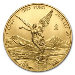 2016 Mexico 1 oz Gold Libertad BU