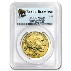 2015 1 oz Gold Buffalo MS-70 PCGS (Black Diamond)