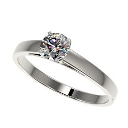 0.75 ctw VS/SI Diamond Solitaire Ring 14K White Gold