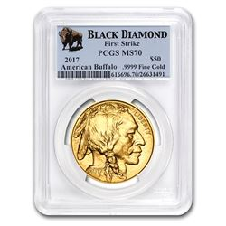 2017 1 oz Gold Buffalo MS-70 PCGS (FS\, Black Diamond)