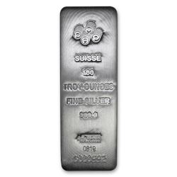 100 oz Cast-Poured Silver Bar - PAMP Suisse (w/Assay)