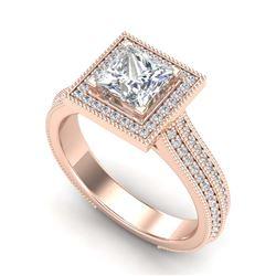 4.06 ctw Pink Sapphire & Diamond Ring 14K White Gold