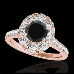 1.25 ctw Morganite & VS/SI Diamond Ring 10K White Gold