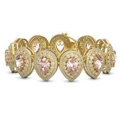 8.36 ctw Aquamarine & VS/SI Diamond Earrings 10K Rose Gold