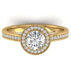 12.0 ctw Ruby & Diamond Ring 18K White Gold