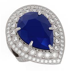 2.58 ctw Fancy Black Diamond Solitaire Necklace 10K Rose Gold