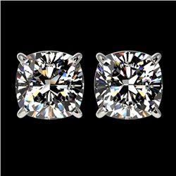 6.47 ctw Emerald & Diamond Halo Earrings 10K Yellow Gold