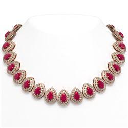 9.5 ctw Opal & Diamond Halo Bracelet Rose 10K Rose Gold