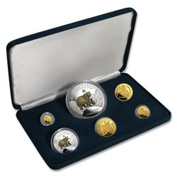 1996 Cook Islands 6-Piece Gold & Silver Proof Set (Grizzly Bear)