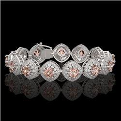 7.4 ctw Opal & Diamond Earrings 14K Rose Gold