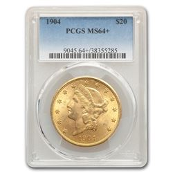 1904 $20 Liberty Gold Double Eagle MS-64+ PCGS