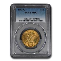 1903-O $10 Liberty Gold Eagle MS-63 PCGS