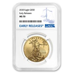 2020 1 oz Gold American Eagle MS-70 NGC (Early Releases)