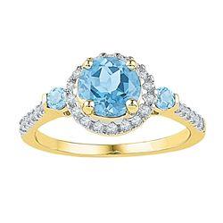 10kt Yellow Gold Mens Round Diamond Wedding Band Ring 1/4 Cttw