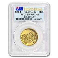 2012-P Australia 1 oz Gold Koala PR-70 PCGS (FS\, High Relief)