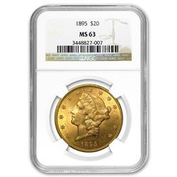 1895 $20 Liberty Gold Double Eagle MS-63 NGC