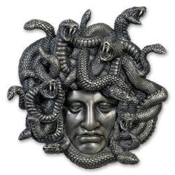 2019 Niue 7 oz Antique Silver Amulet of Power: Medusa
