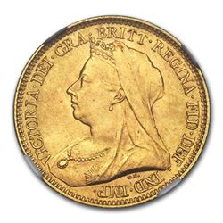 1893 Great Britain Gold Half-Sovereign Victoria MS-65 NGC