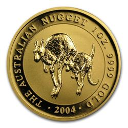 2004 Australia 1 oz Gold Nugget BU