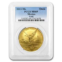 2013 Mexico 1 oz Gold Libertad MS-69 PCGS