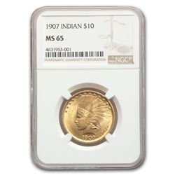1907 $10 Indian Gold Eagle MS-65 NGC