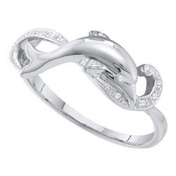 10kt White Gold Diamond Heart Bridal Wedding Engagement Ring Band Set 1/2 Cttw