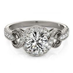 1.50 ctw Fancy Black Diamond Solitaire Necklace 10K White Gold