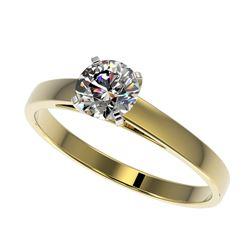 1.08 ctw VS/SI Diamond Stud Halo Earrings 14K Yellow Gold