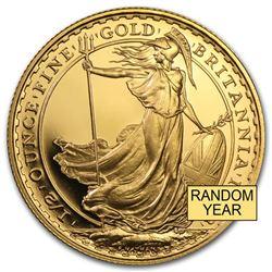 Great Britain 1/2 oz Gold Britannia BU/Proof (Random Year)