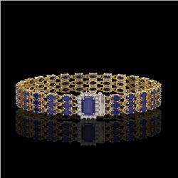 26 ctw Morganite & VS/SI Diamond Bracelet 14K Rose Gold