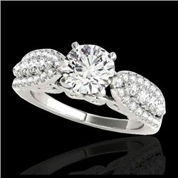 1.70 ctw H-SI/I Diamond Solitaire Halo Ring 10K Yellow Gold