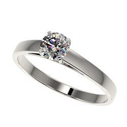 5.50 ctw Garnet & VS/SI Diamond Halo Earrings 18K White Gold