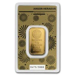 10 gram Gold Bar - Argor-Heraeus Year of the Rat (In Assay)