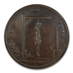 1793 Middlesex 1/2 Penny Conder Token AU-53 PCGS