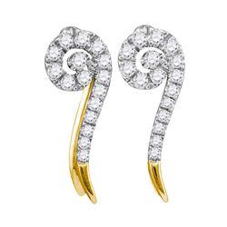 10kt White Gold Round Diamond Square Halo Bridal Wedding Engagement Ring Band Set 5/8 Cttw