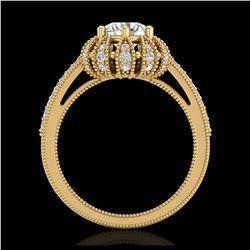 43.2 ctw Amethyst & Diamond Halo Necklace 10K Rose Gold