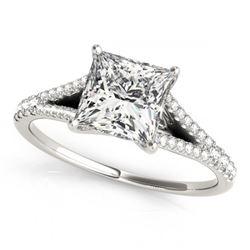 0.65 ctw VS/SI Princess Diamond Ring 14K Yellow Gold